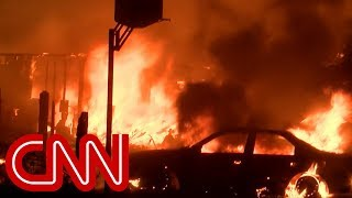 Download Massive California fire jumps over river and roars into city of 95,000 people Video