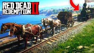 Download 1 TRAIN vs 4 HORSES! (Red Dead 2 FAILS & FUNNY MOMENTS! #2) Video