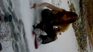Download Swimming on snow with leather pants Video