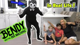 Download Bendy and the Ink Machine In Real Life Kids Skit | DavidsTV Video