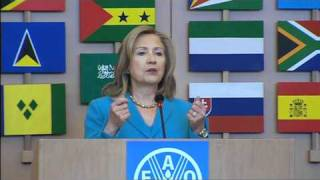 Download Hillary Rodham Clinton at FAO to discuss global food security Video