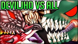 Download All Deviljho Turf Wars + Special Monster Interactions - Monster Hunter World! (With Pro and Noob) Video