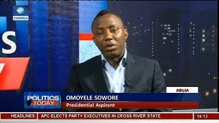 Download 2019 Election: Sowore Wants To Debate Buhari, Other Aspirants Pt.2 | Politics Today | Video