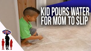 Download Mom Slips & Falls After Out Of Control 5Yr Old Pours Water On Floor | Supernanny Video