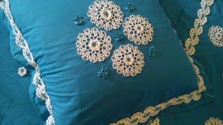 Download مفارش سرير كروشي رائعة مع الباترن Beautiful crochet bed runner Video