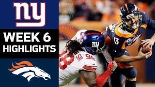 Download Giants vs. Broncos | NFL Week 6 Game Highlights Video