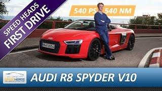 Download 2017 Audi R8 Spyder V10 Test (540 PS) - Fahrbericht - Review Video