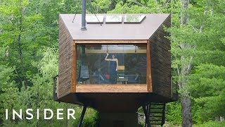 Download Glass Wall Treehouse On Airbnb Has 360-Degree Views Video