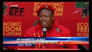 Download Malema delivers keynote address at the EFF's manifesto launch Video