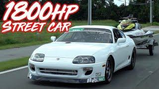 Download 1800HP Street Supra Breaks 6's! - Fastest Street Driven Supra in the World! Video