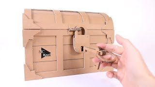 Download How to make Treasure Chest with a Lock - Cardboard DIY Video