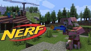 Download Monster School : NERF WAR CHALLENGE - Minecraft Animation Video