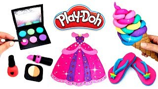Download Play Doh Things to Make with Modelling Clay Compilation Play Doh Makeup Dress Flip Flops Ice Cream Video