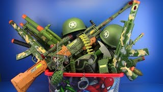Download Box of Toys ! Military Guns Toys & equipment - Toys for Kids Video