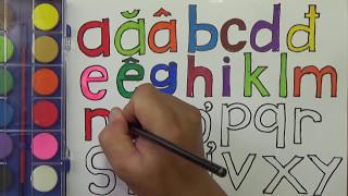 Download Dạy bé học bảng chữ cái tiếng Việt cho trẻ em   vẽ và tô màu Video