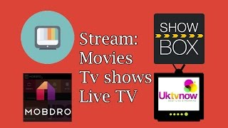 Download Stream Movies / Tvshows / Live TV - Android & Chromecast Video