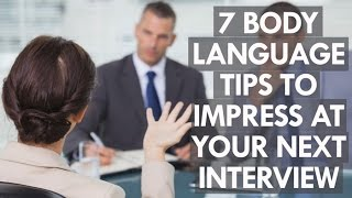 Download 7 body language tips to impress at your next job interview Video