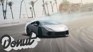 Download Making a Lamborghini, first test: drifting | #HuracanDrift | Donut Media Video