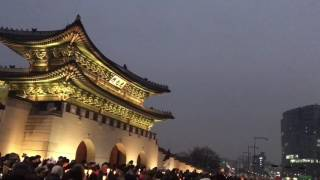 Download Seoul / Peaceful Candle Demonstration of South Korea (1.5 million people) / Gwang Hwa Mun Video