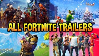 Download ALL 30 FORTNITE BATTLE ROYALE TRAILERS IN ORDER..! (Halloween, Christmas, Season1...) Video