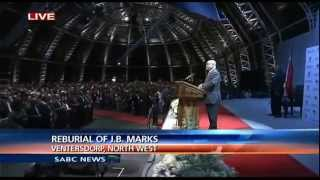 Download SA President Jacob Zuma leading in struggle songs at the reburial of J B Marks Video