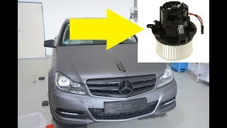 Download Mercedes W204 Blower Motor Replacement Replacement/Removal C-Class Video
