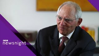 Download Wolfgang Schäuble on Brexit and the issues facing Europe - BBC Newsnight Video