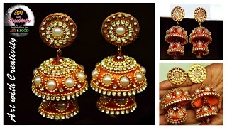Download Silk thread Earring | Bridal Jhumka | Art with Creativity 128 Video