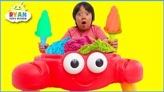 Download Ryan Pretend Play Selling Ice Cream and clean up with cleaning toys!!! Video