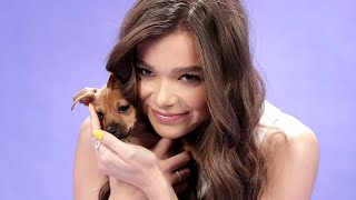 Download Hailee Steinfeld Plays With Puppies While Answering Fan Questions Video