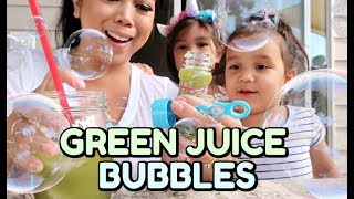 Download EDIBLE GREEN JUICE BUBBLES! - ItsJudysLife Vlogs Video