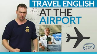 Download Travel English: How to go through customs at the airport Video