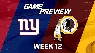 Download New York Giants vs. Washington Redskins | NFL Week 12 Game Preview | NFL Playbook Video
