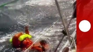 Download Un homme à la mer : sauvetage mouvementé d'un navigateur dans le Pacifique durant la Clipper race Video