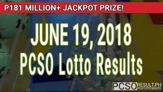 Download PCSO Lotto Results Today June 19, 2018 (6/58, 6/49, 6/42, 6D, Swertres, STL & EZ2) Video