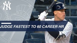 Download Judge becomes fastest to reach 60 career HRs Video