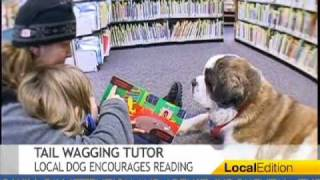 Download Therapy Dog Encourages Reading Video