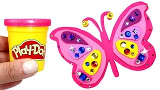 Download Play Doh Butterfly How to Make Jewelled Butterfly with Play Dough & More Creative Fun for Kids Video