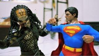 Download Superman Stop motion - Man of Steel VS Predator 超人與終極戰士 Video