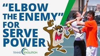 Download TENNIS SERVE | ″Elbow The Enemy″ Tennis Serve Drill Video