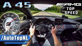 Download MERCEDES AMG A45 381HP AUTOBAHN POV ACCELERATION & TOP SPEED by AutoTopNL Video