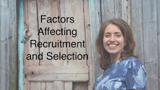 Download Factors affecting recruitment and selection Video