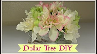 Download Dollar Tree Tea Cup Floral Arrangement! |Shabby Chic Video