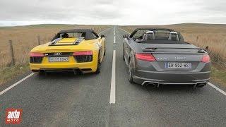 Download 2017 R8 Spyder vs TT RS Roadster [ENG SUBS] : Audi fait le printemps Video