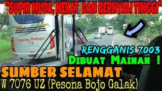 Download ″SUPIR MUDA, NEKAT DAN BERNYALI TINGGI″ | Trip report bus SUMBER SELAMAT (W 7076 UZ) Klaten-Surabaya Video