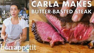 Download Carla Makes Butter-Basted Steak | From the Test Kitchen | Bon Appétit Video
