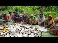 Download Traditional Coconut Sweet Making By Women - Tasty Narikel Laddu For Whole Village Peoples Video