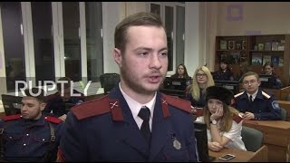 Download Russia: First-ever Cossack cyber-squad begin training in Moscow Video