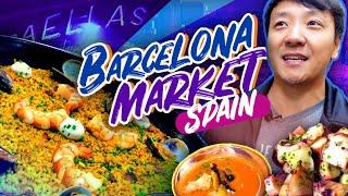 Download SPANISH BRUNCH at BEST FOOD MARKET in Spain! La Boqueria Market in Barcelona Spain Video