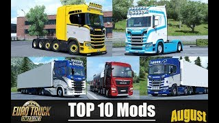 Download ✅ TOP 10 MODS for Euro Truck Simulator 2 - August 2018 Video